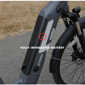 Lithium battery in Gio storm e-bike